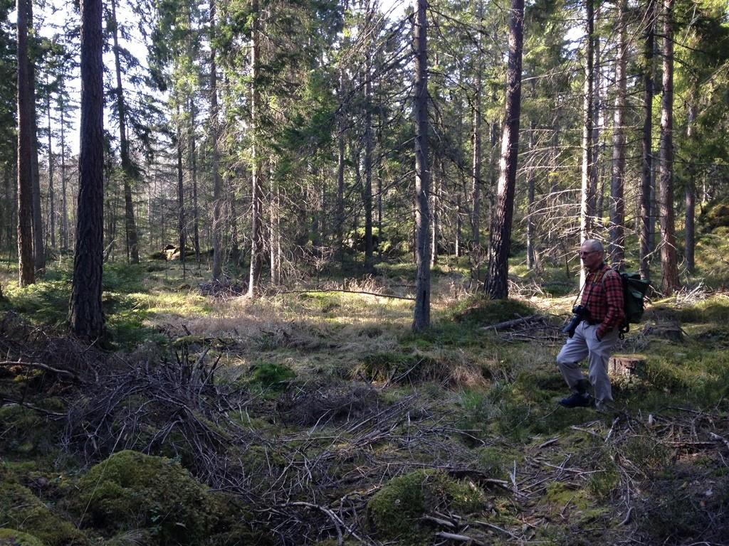 Leif Branting gör paus i sitt fotograferande och blir själv motiv. Foto: Martin Olofsson